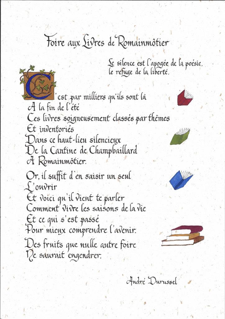 Poème André Durussel