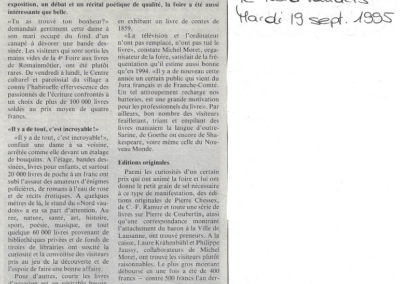 Journal le Nord Vaudois - 19/09/1995